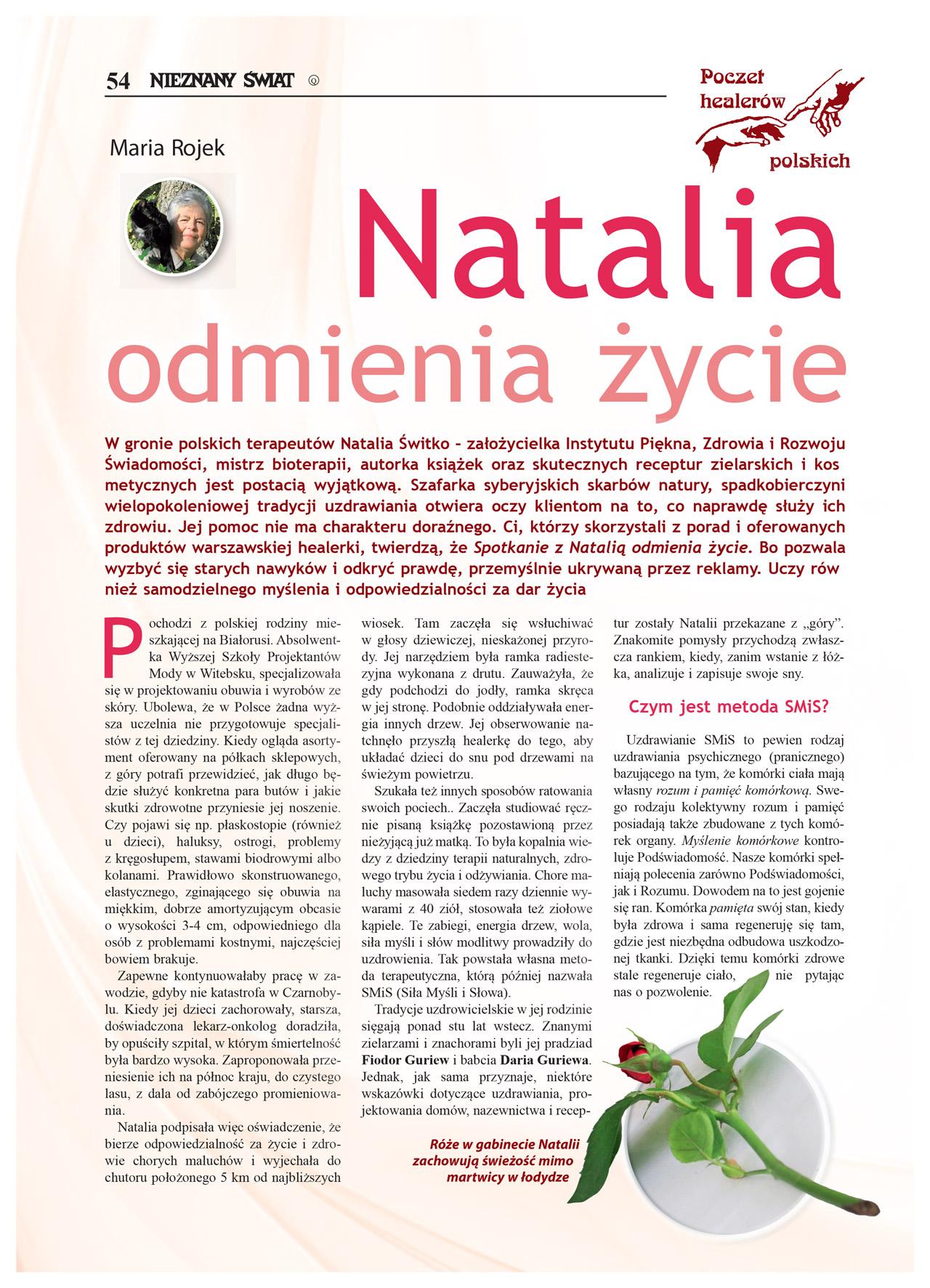 Artykuł Nieznany Świat 2016/02 - Natalia Switko. Strona 1.