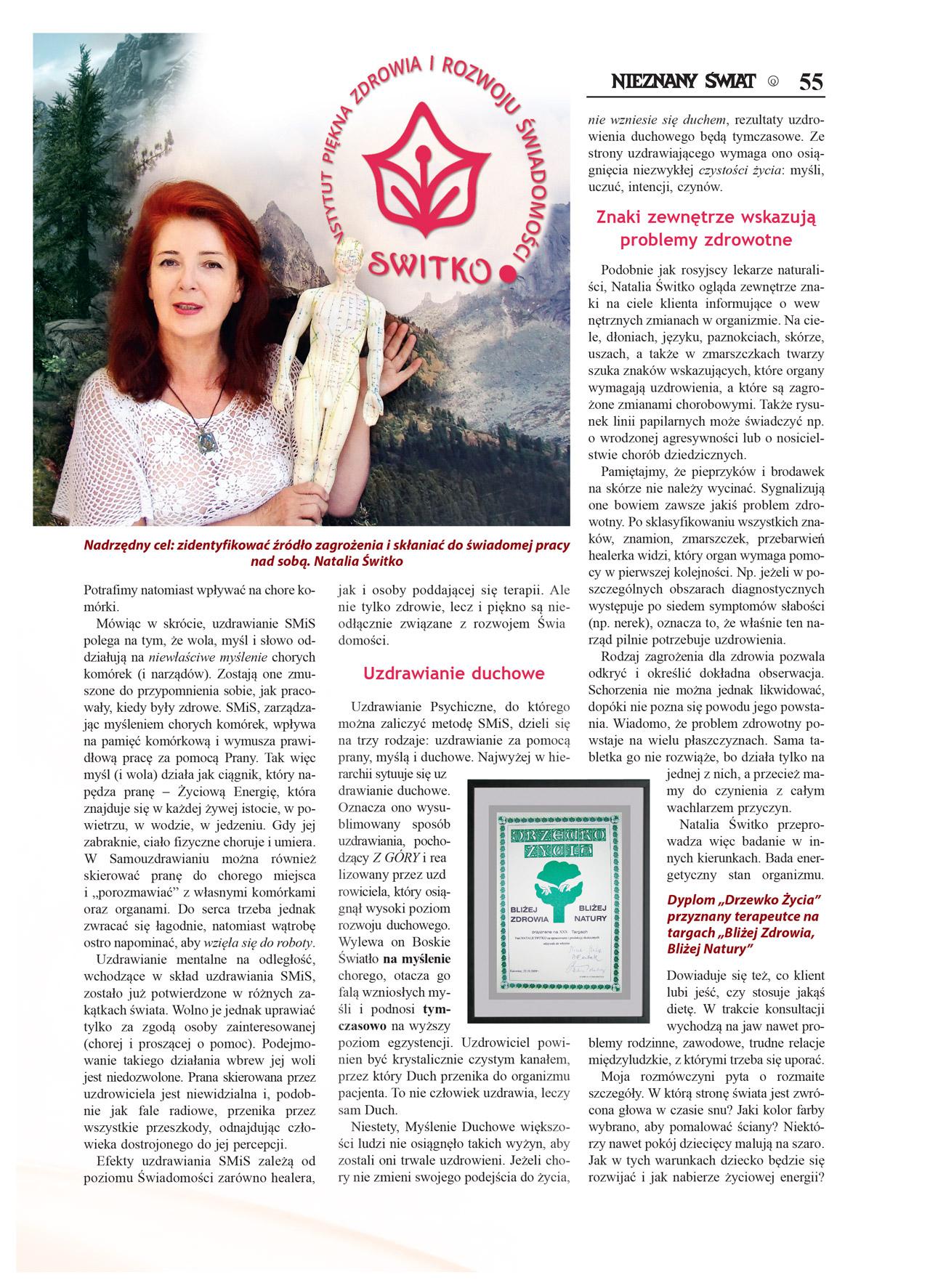 Artykuł Nieznany Świat 2016/02 - Natalia Switko. Strona 2.