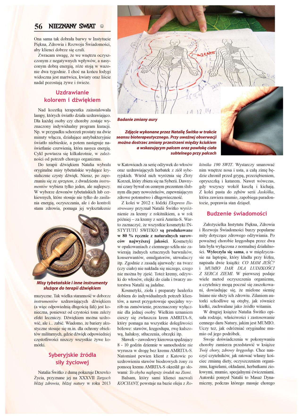 Artykuł Nieznany Świat 2016/02 - Natalia Switko. Strona 3.