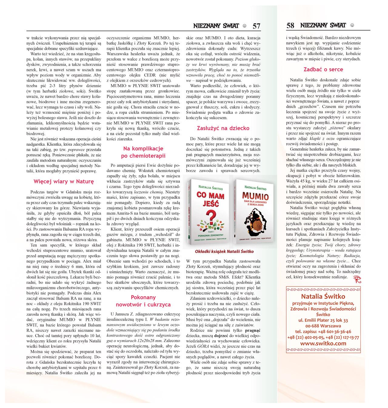 Artykuł Nieznany Świat 2016/02 - Natalia Switko. Strona 4.